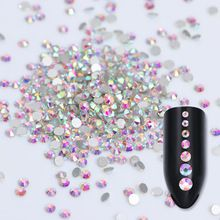 1440pcs Flat Back Rhinestone 3D Nail Decoration Colorful Multi-size Manicure  Nail Art Decoration( 26ba00717824