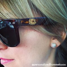 Monogrammed Sunglasses so you never confuse your sunglasses with anyone else's!!!