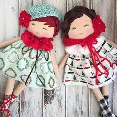 "SpunCandy Dolls ~ Omaha, NE #spuncandydolls ""Christmas is coming!! ❤️ #christmasdolls #thecomfortandjoycollection #spuncandydoll #handmadedoll"