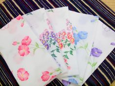 呉服・和装小物 すがの: 当店人気商品の一つ、ガーゼ手ぬぐい5枚セット
