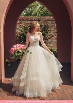 Casablanca Bridal Custom Wedding Dress - Style 2259 Calla Lily Bodice with Style 2315 Tori Skirt Custom Wedding Dress, Wedding Dress Styles, Casablanca Bridal Gowns, Calla Lily, Bodice, Ball Gowns, Tulle, Feminine, Romantic