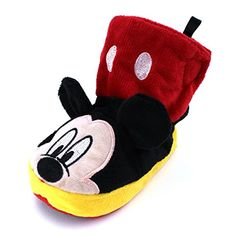 Mickey Mouse Kids Boot Slippers (S (3/4) M US Toddler, Mickey Black/Red) Disney http://www.amazon.com/dp/B016AMGW4Y/ref=cm_sw_r_pi_dp_6ZOkwb15C72C8