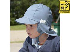 Mütze Tom UV-40 von Pickapooh, Taubenblau (Gr.40) - Aus reiner Bio-Baumwolle (kbA)