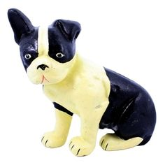 Lonnie the Boston Terrier Doorstop, made of cast iron and hand-painted by HomArt artists, is a helpful dog, happy to hold even heavy doors open inside or out. Cast Iron Care, Boston Terriers, Cat Fabric, Shape Crafts, Iron Doors, Decorative Accessories, 3 D, It Cast, Hardware