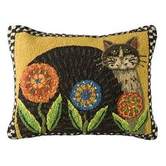 Cat & Penny Flowers Pillow | Sturbridge Yankee Workshop