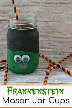 Make your next Halloween or Frankenstein party an even bigger hit with the adults or kids with these really cool make it yourself cups. You piece togther balloons and mason jars to create this amazing hand hel Frankenstein. Halloween Crafts for Kids Halloween Crafts For Kids To Make, Halloween Art Projects, Fun Crafts To Do, Easy Crafts For Kids, Toddler Crafts, Ghost Crafts, Spider Crafts, Mason Jar Cups, Craft Free