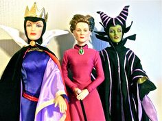 Evil Queen, Lady Tremaine, and Maleficent