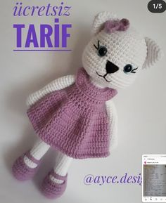 Amigurumi Kedicik Tarifi Amigurumi Kedicik Tarifi The Effective Pictures We Offer You About Crochet dress A quality picture can tell you many things. Knitted Dolls, Crochet Dolls, Crochet Hats, Cat Crochet, Amigurumi For Beginners, Diy Crafts To Do, Crochet Amigurumi Free Patterns, Crochet Decoration, Cute Toys