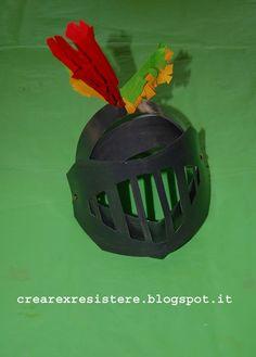 Creare Per Resistere: Elmo da cavaliere! Tutorial - A knight's helm