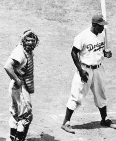 1949 ASG at Brooklyn Dodgers(Ebbets Field): Birdie Tebbetts, Jackie Robinson