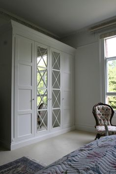 Regency Mirror on this pretty wardrobe by James Linn at WARDROBE