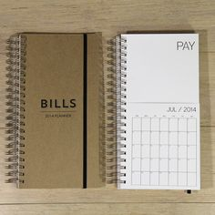 DATED bills calendar on Etsy, $26.28