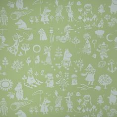 Moomin characters wallpaper by Sandudd - green!