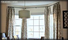 from GARDNERS 2 BERGERS: ✥ DIY Curtain Rods {Sliding Glass Door & Bay Window} ✥ ...Another tutorial @Gregory Mabile