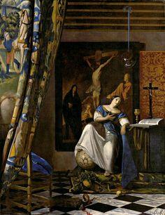 J. Vermeer The Allegory of Faith (Allegorie op het geloof) c. 1670- 1674 Oil on canvas 114.3 x 88.9 cm. (45 x 35 in.) Metropolitan Museum of Art, New York