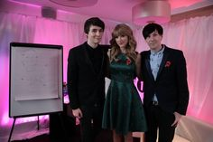 At the Teen Awards---they look so good! They're all dressed up and adorable and they're going to present an award later...I'm so proud!(: