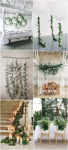 Ideas and Inspiration For Your Pantone Colour of the Year – Greenery Inspired Wedding #weddingdecoration