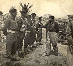 General Bernard Montgomery (centre-right), the Commander of the Eighth Army, inspects troops in North Africa in Charles Bickford, Bernard Montgomery, North African Campaign, James Drury, Field Marshal, Actor James, The Virginian, British Army, Vintage Photographs