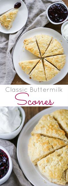 Classic buttermilk scones are the perfect way to start your day. | livforcake.com