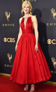 Emmys 2017 Red Carpet: Nicole Kidman in Calvin Klein by Appointment