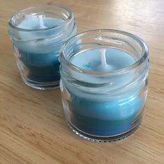 Bored of having plain white candles? Why not make your own ombré style mini candles! - H