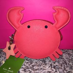 🦀 Kate Spade ♠️ Crab Coin Purse NWTs 🦀 🦀 Kate Spade ♠️ Make A Splash Crab Coin Purse • smoke/pet free home • 20% donated to the American Cancer Society • Thanks & Happy Poshing! 🦀 kate spade Bags Clutches & Wristlets