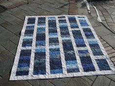 sharons blue&white with olive quilting