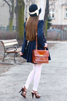 Cute preppy navy blue outfit