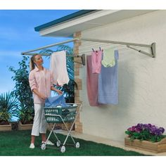 Wall Mount Clothes Line $139.98 #clotheslinesource.com  Hills FD45350 Traditional Single Folding Frame Clothesline