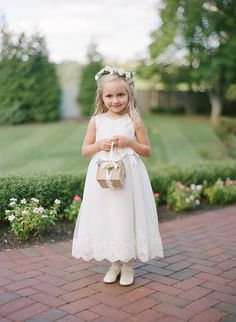 The most precious little flower girl: http://www.stylemepretty.com/new-jersey-weddings/allentown/2016/02/04/classic-estate-wedding/ | Photography: Robert and Katleen - http://www.robertandkathleen.com/