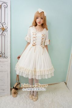 Little Dipper -Early Summer's Sweet Dreams- Short Sleeves Lolita OP Dress