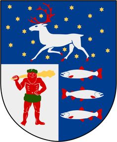 Coat of arms of the county of Västerbotten, Sweden