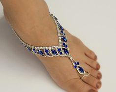 Sandalias Descalzas bodas de plata joyería nupcial por Kimsically