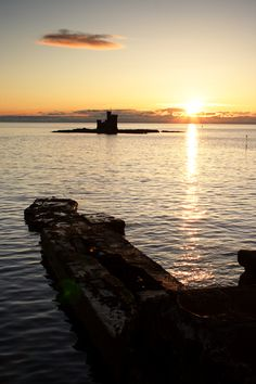 Manx Sunrise...this is called the Tower of Refuge...in Douglas harbor
