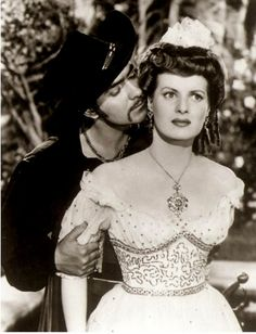 "Tyrone Power and Maureen O'Hara    ""The Black Swan"" 1942  TYRONE DID A GREAT SWASHBUCKLE:)"