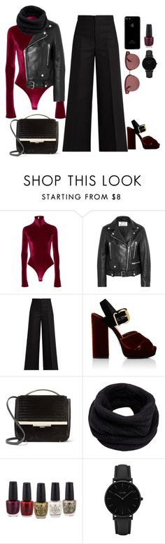 """"""":}"""" by gb041112 ❤ liked on Polyvore featuring Alix, Acne Studios, Isabel Marant, Prada, Eddie Borgo, Helmut Lang, CLUSE and Oliver Peoples"""