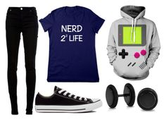 """random # 138"" by doodlebob3 ❤ liked on Polyvore featuring dVb Victoria Beckham, Converse and Bling Jewelry"