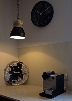 Black/wooden modern Scandinavian pendant light by valodesign.com.au