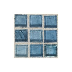 American Olean�Visionaire Serenity Blue Glass Mosaic Square Indoor/Outdoor Wall Tile (Common: 13-in x 13-in; Actual: 12.87-in x 12.87-in)