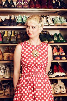Peep ModCloth Founder Susan Koger's Awe-Inspiring Closet!   The shoes!!!