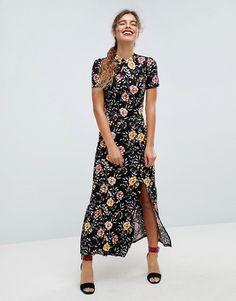 ASOS Chinoiserie Print Maxi Tea Dress