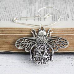 Queen Bee Swirl Pin Brooch by zamsoe on Etsy, £24.00