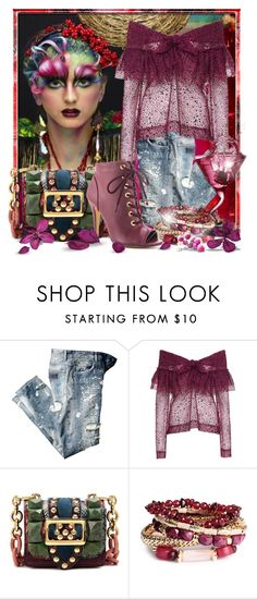"""""""Cranberry Cocktail"""" by doozer ❤ liked on Polyvore featuring Isa Arfen, Burberry, H&M and Michael Antonio"""