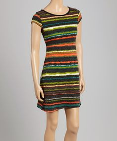 Orange Abstract Stripe Sweater Dress by  #zulily #zulilyfinds