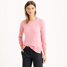 A little oversize, a lot cozy. Our newest crewneck is designed with warm wool and a slightly longer length in back (so it balances our cropped pants perfectly). <ul><li>Slightly oversize fit.</li><li>Hits at hip.</li><li>Wool/nylon/viscose.</li><li>Rib trim at neck, cuffs and hem.</li><li>Dry clean.</li><li>Import.</li></ul>