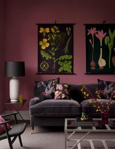I wouldn't normally go for this color, but with the artwork and the couch, I…
