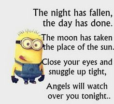 Funny quotes sweet dreams funny memes about minions funny minion memes funny good night sweet dreams Cute Quotes, Great Quotes, Inspirational Quotes, Top Quotes, Funny Good Night Quotes, Humorous Quotes, Funny Quotes For Kids, Minion Humour, Funny Minion