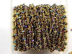 AAA 10 Feet Mystic Blue Hydro Rosary Beaded Chain 3-4mm 24k Gold Plated Gemstone,Wire Rosary Chain Wire Wrapped Beads, Rosary, Rosary Beads, Rosary Chains, Beaded Rosary, Rosary by Raj, http://www.amazon.com/dp/B071G5H25M/ref=cm_sw_r_pi_dp_x_9yyDzbTD7V2WB