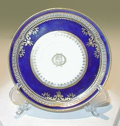 This Spode china saucer was removed from Titanic prior to her maiden voyage. Even more elegant than the china in First Class on other White Star Line vessels, this pattern of china was designed exclusively for the Titanic.