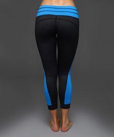 40138df12c83b Royal Blue   Black Drawstring Leggings
